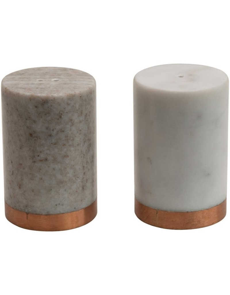S/2 Marble Salt and Pepper Shakers
