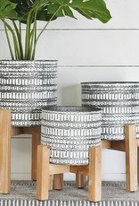 Galvantized tin planters