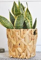 """8.66"""" Water Hyacinth Basket"""