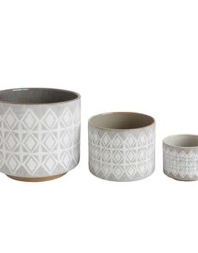 Lacey Stoneware Pot