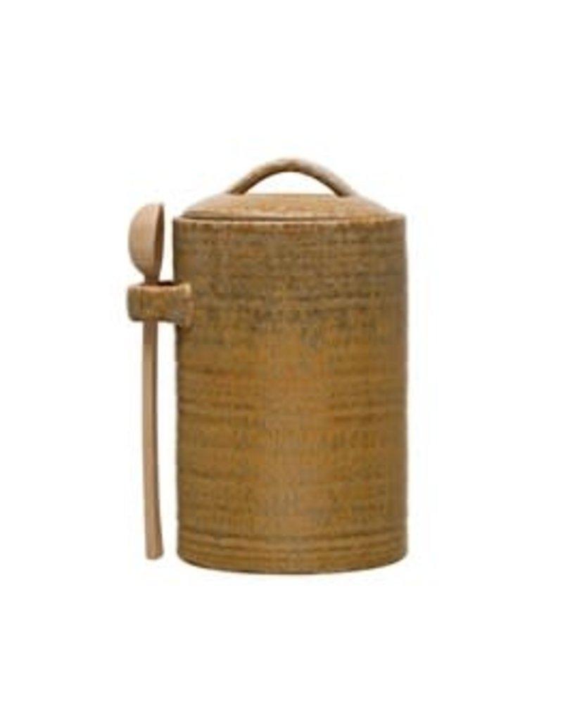 Stoneware Jar w/Scoop