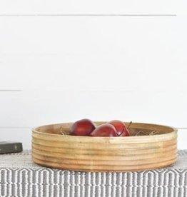 "15.75"" Carved Wood Bowl"
