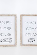 Wash/Brush Rvs Wood Sign