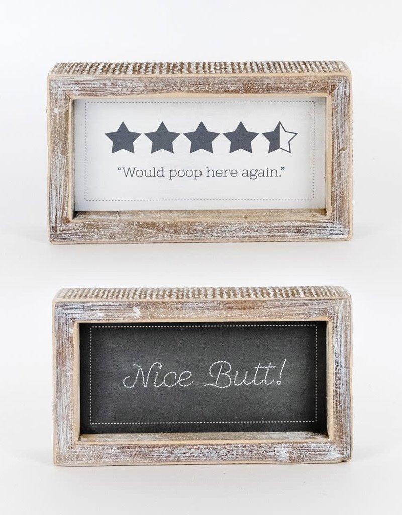 Nice/Again Bathroom Rvs Sign