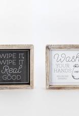 Wipe/Wash Rvs wood sign