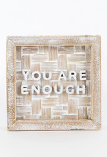 Bamboo Wood Sign, You are Enough