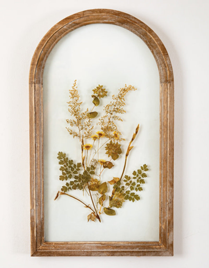 Brown Arched Botanical Wall Decor