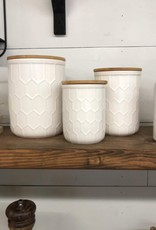 """S/3 5-1/2""""H Stoneware Canister"""