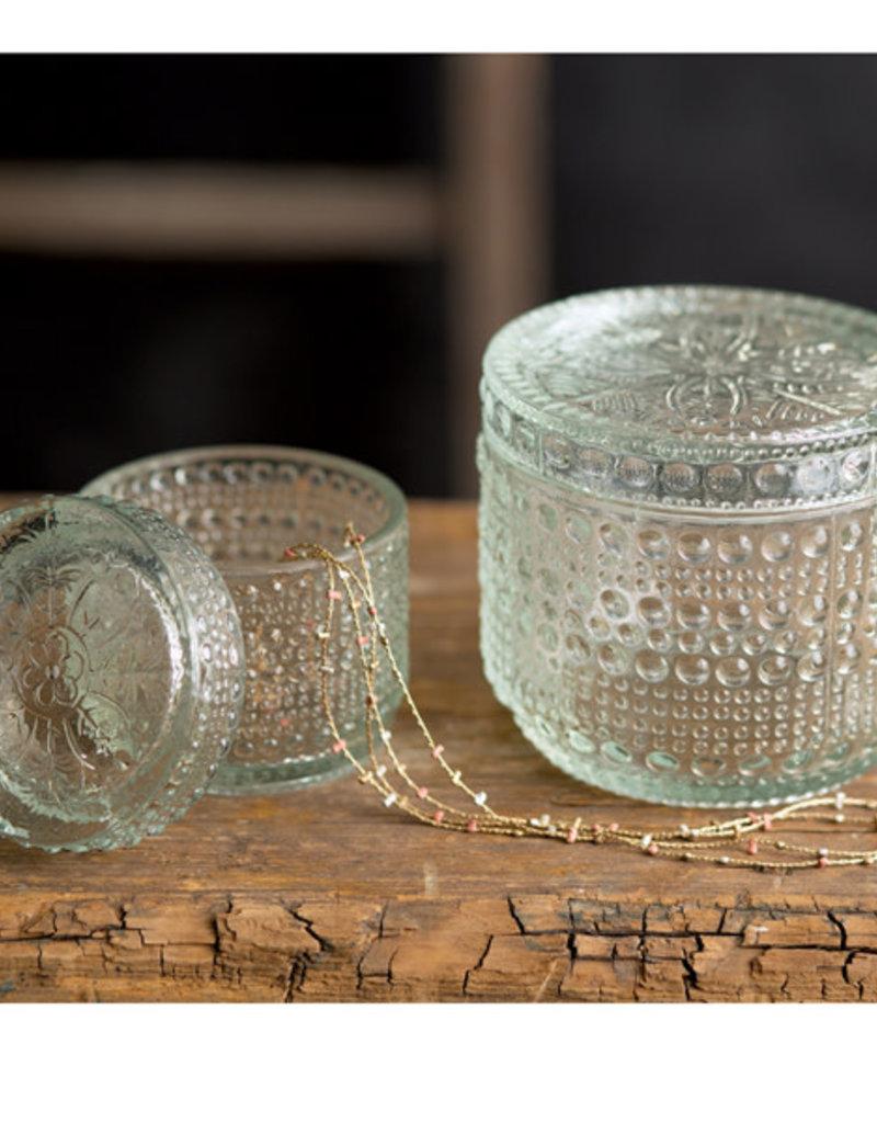 Cut Glass Jar- Large