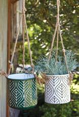 Hanging Metal Planter-Green