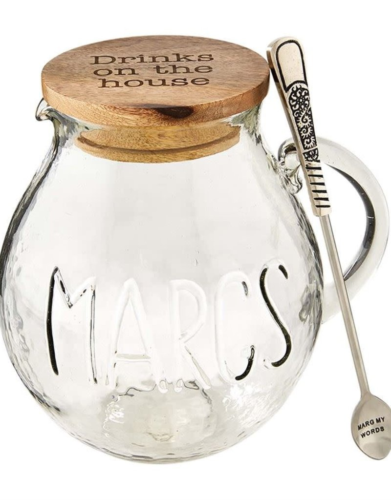 Glass Marg Pitcher Set
