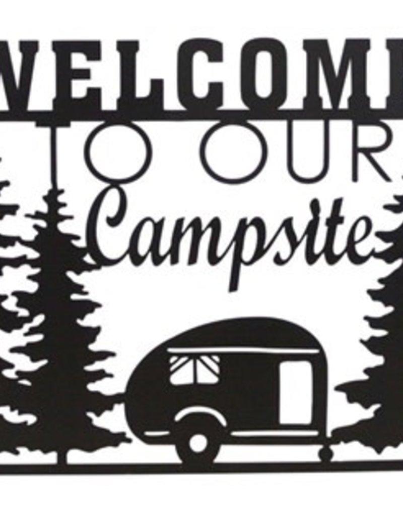 Camp Metal/Wood Sign
