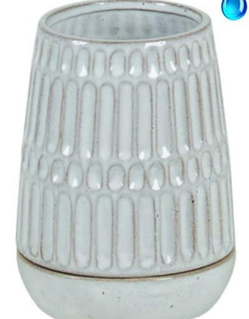 Stoneware Pot w/Saucer