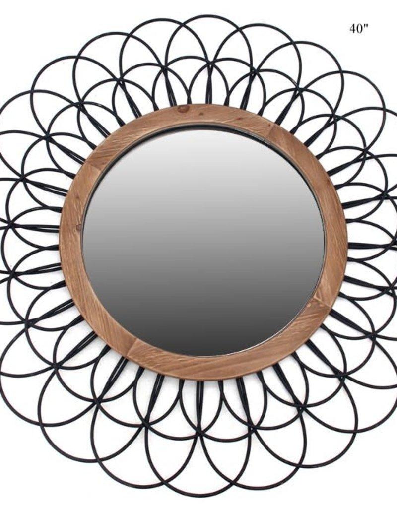 Metal Loop Round Mirror