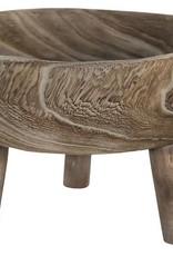 Wood Bowl w/Legs
