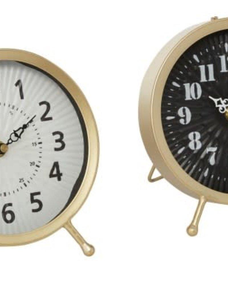 Metal Table Clock, 2 Asst