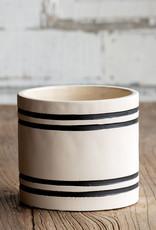 Striped Cement Planter