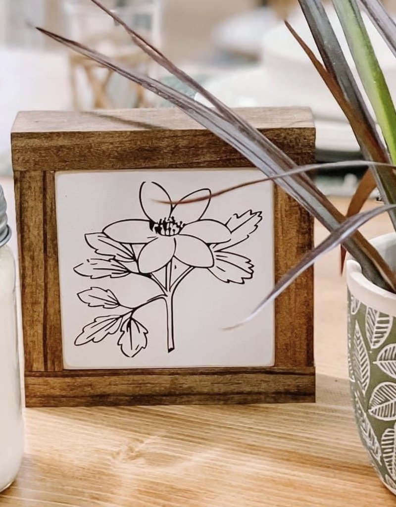 Flower baby sign