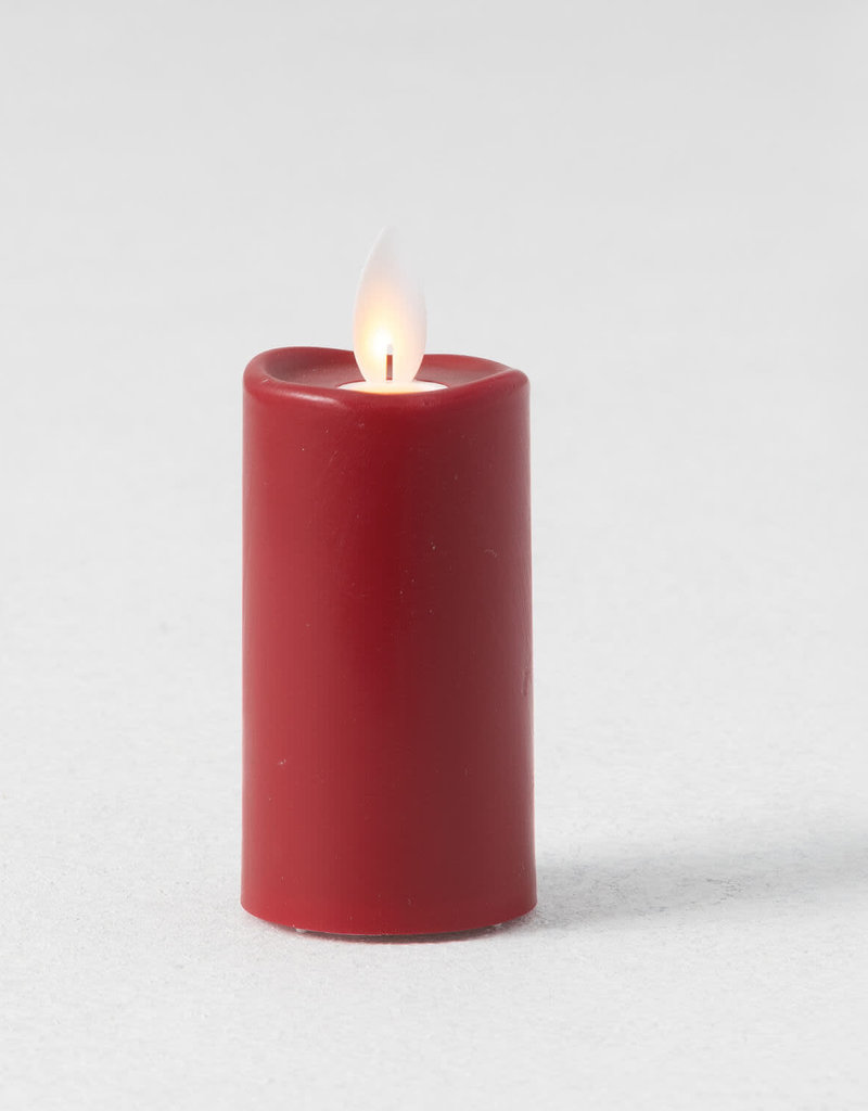 "3"" Red Slim Candle Votive set/2"