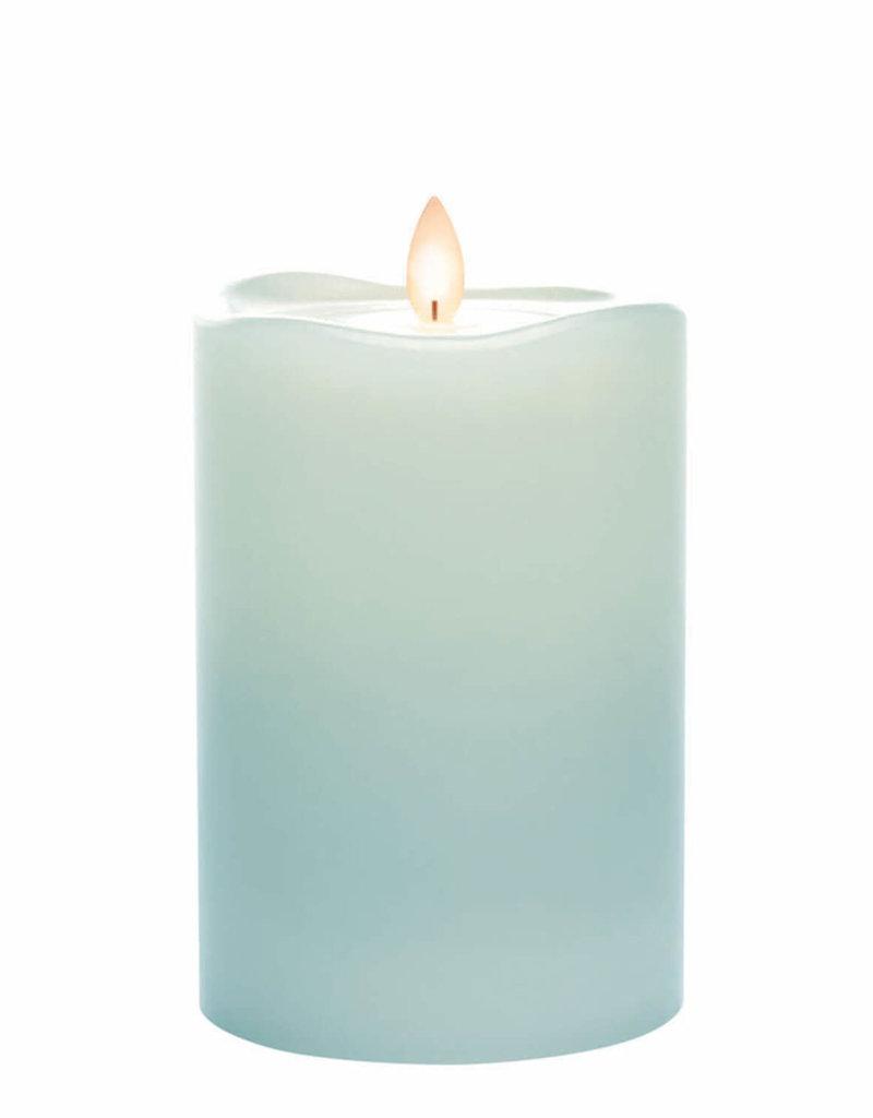 """Wave Top Candle Smooth Pillar, 6""""H"""