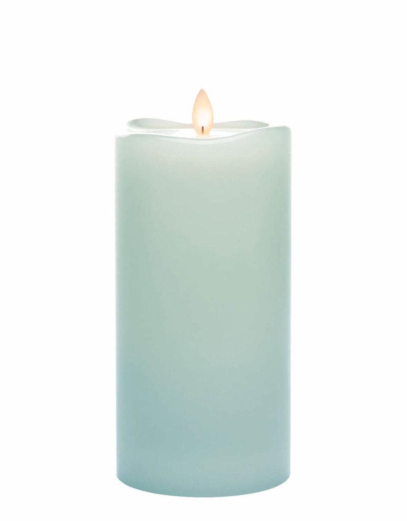"""Wave Top Candle Smooth Pillar, 8"""""""
