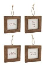 Frame Word Ornament