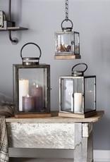 Box Lantern, Metal/wood/glass