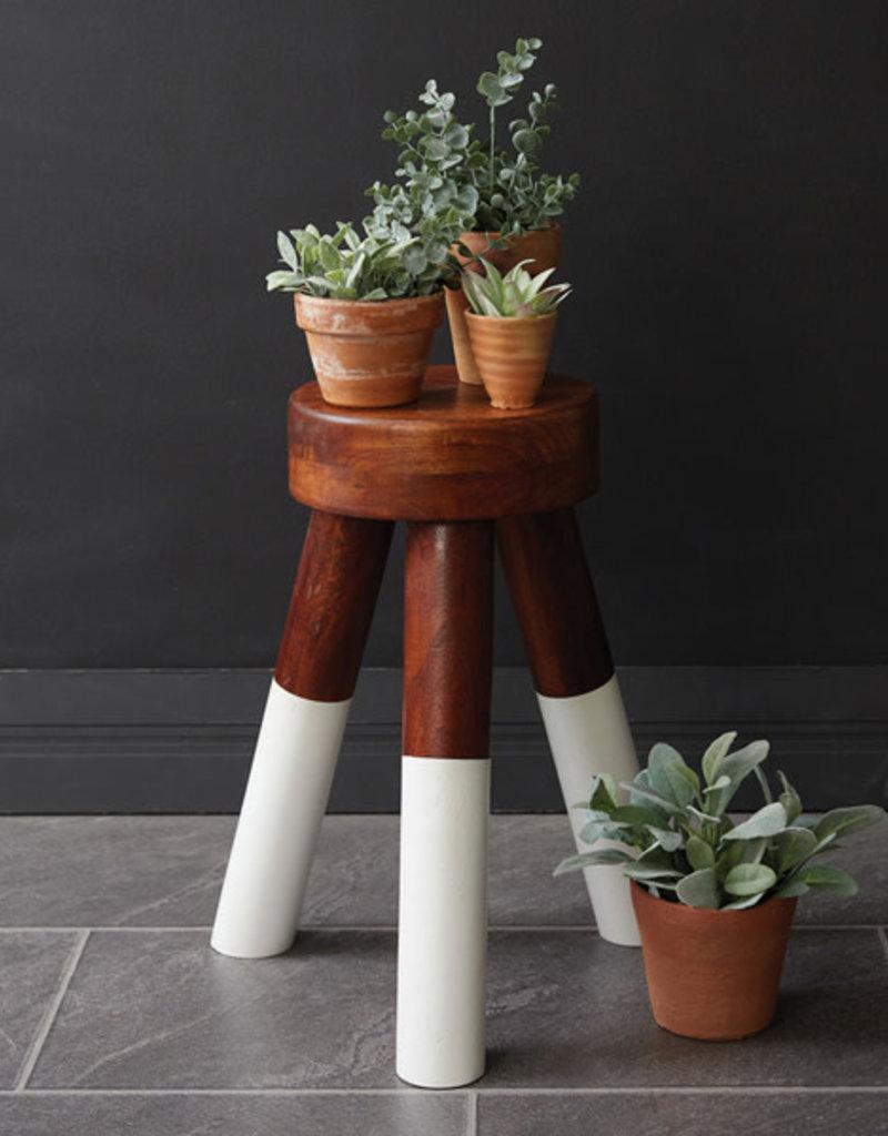 Dip-Dyed Wood Plant Stool