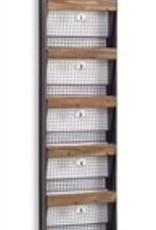 "5 Basket Wall Hanger, 36""H"