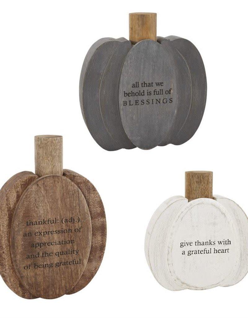 Layered Pumpkin Plaque
