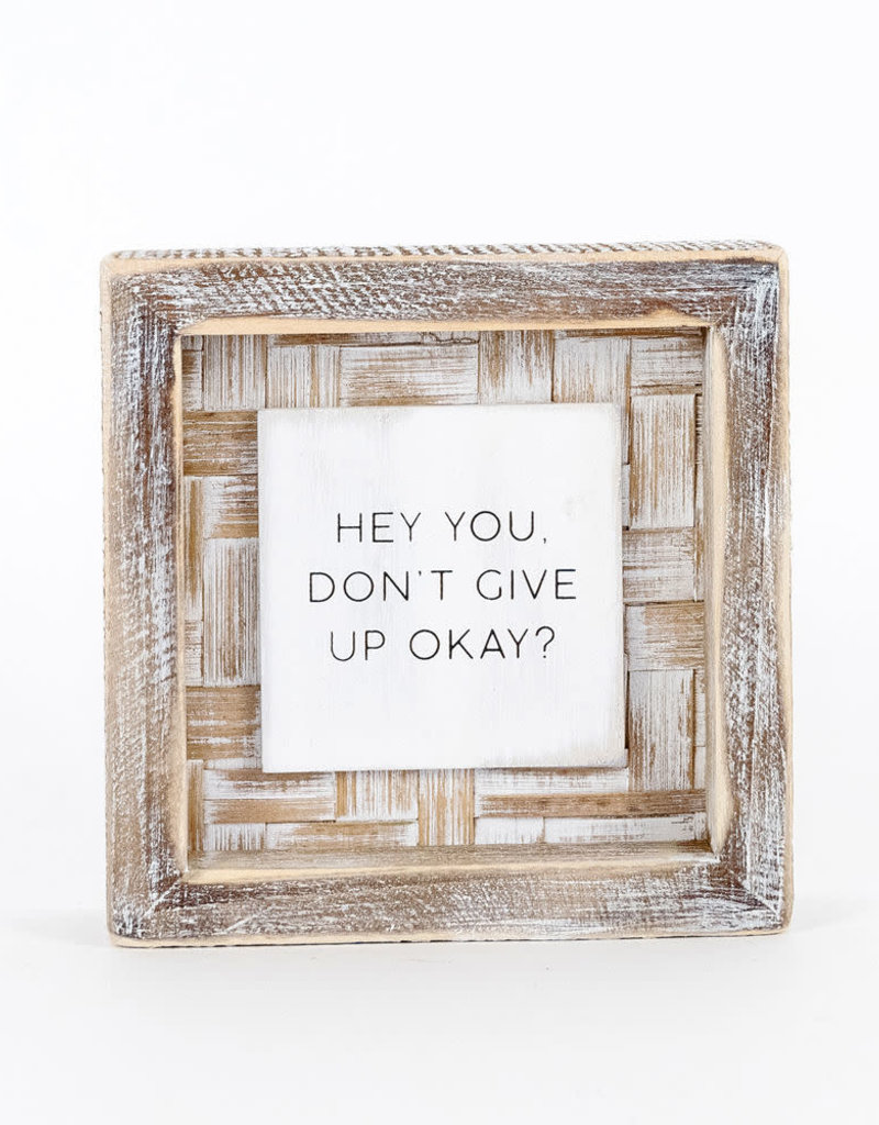 Hey You Bamboo Wood Sign