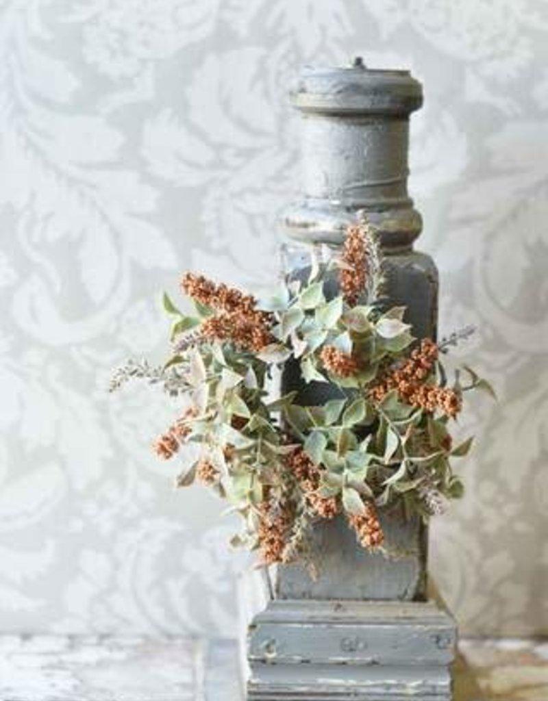 "3"" Autumn Herbs Candle Ring, Pumpkin"