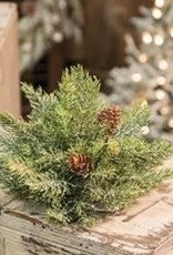 """Frosted Spruce Half Sphere, 8"""""""
