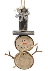 Baby Slice Snowman Ornament