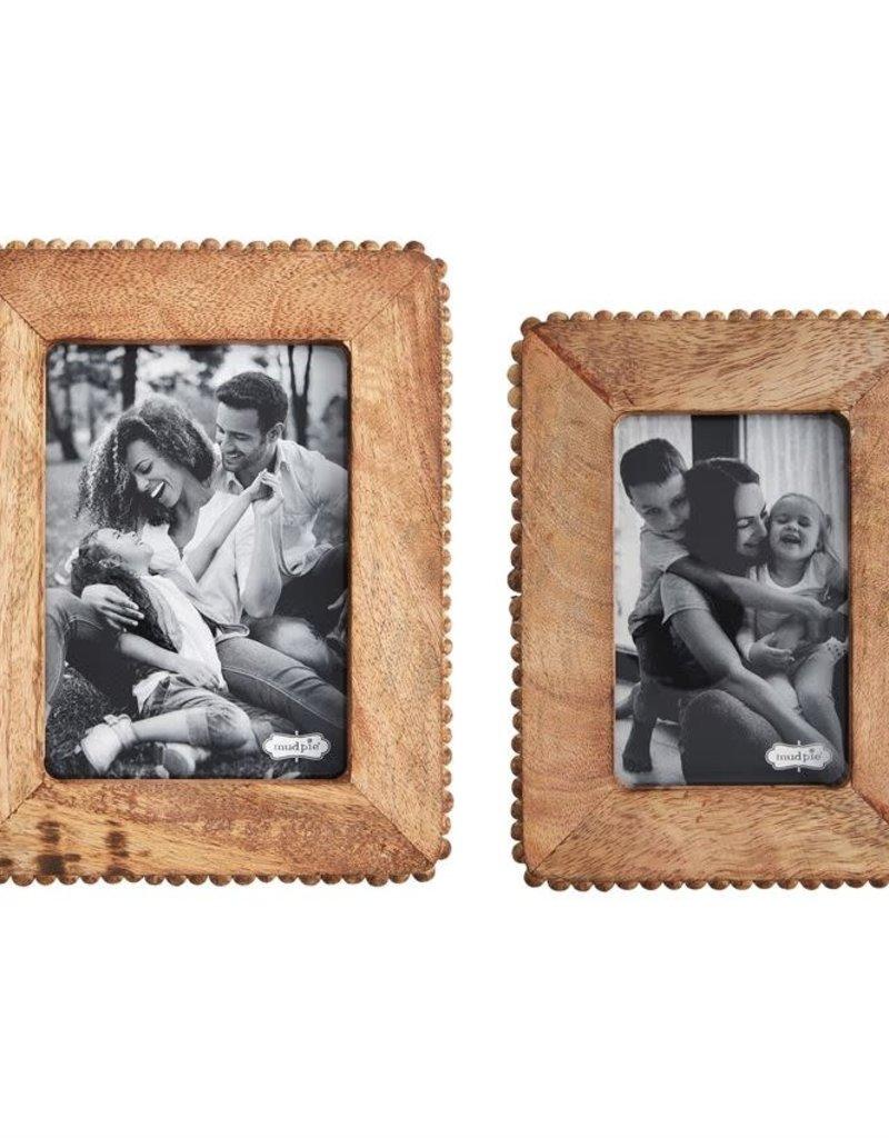 Wood Beaded Edge Frame, Brown