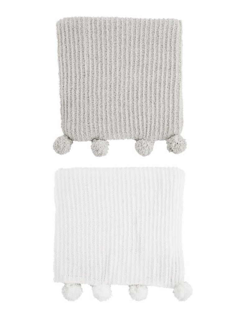 Chenille Pom Pom Blanket