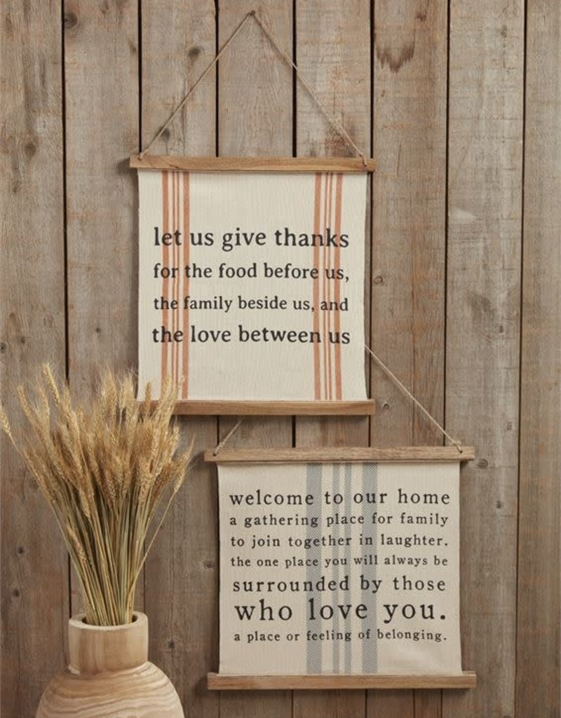 Holiday reverse canvas signs