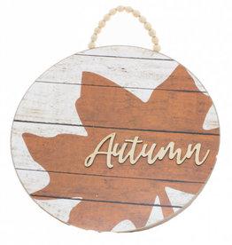 Autumn Maple Leaf Bead Hanger Sign