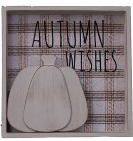 """Autumn Wishes Sign, 9.5""""x9.5"""""""
