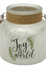 Joy to the world glass jar