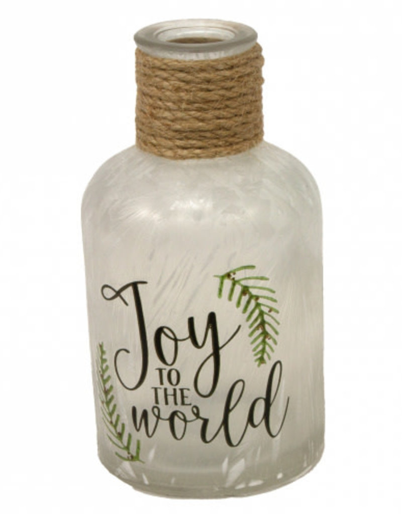 Joy to the World Glass Bottle