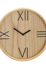 "Wood Wall Clock, 12"""