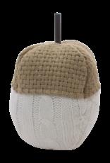 Tan & White Knit Acorn