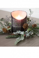 """Fir Berry & Snowflake Candle Ring, 4.5"""""""