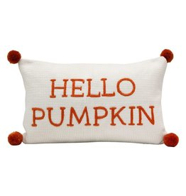 Hello Pumpkin, Orange/Cream Pillow