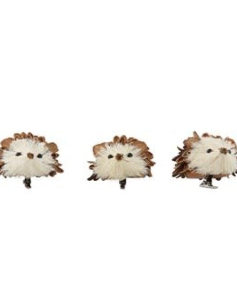 Pinecone Shell & Sisal Hedgehog. S/3
