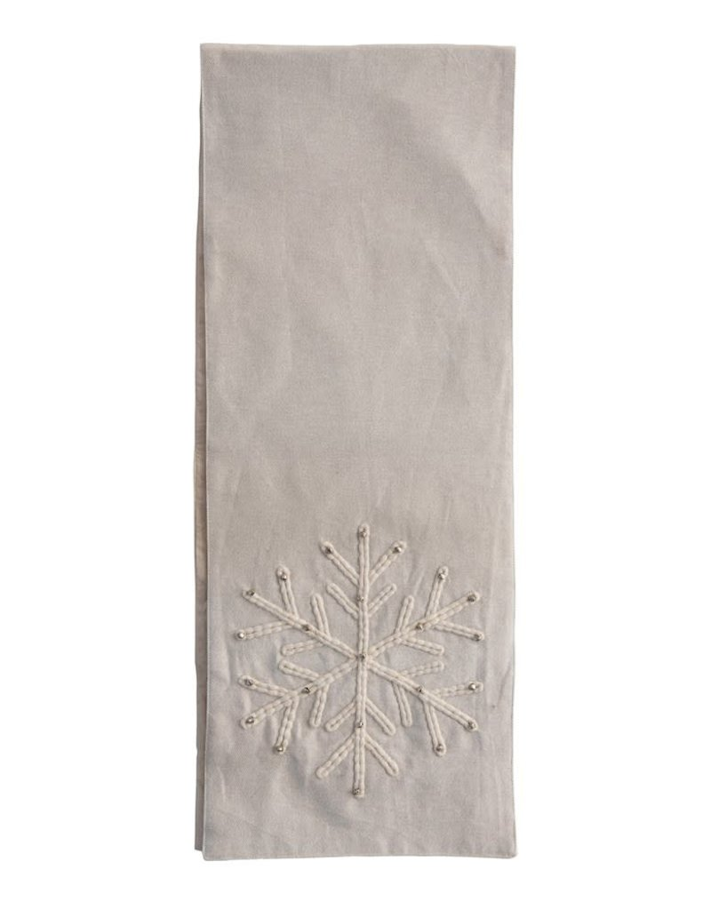 """Snowflake and Bell Table Runner, 72""""L"""