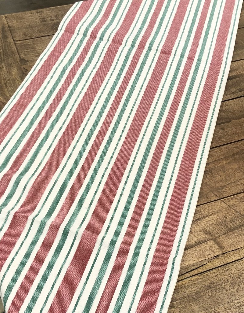 """Red Striped Table Runner, 72""""L"""