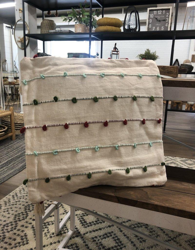 "18"" Square Stripe/Knot Pillow"