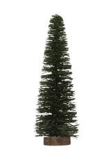 Wood Tree on Base, Dark Green